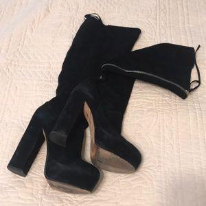 Dolce vita black suede platform boots